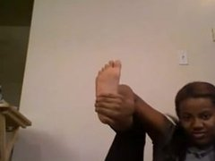 black girl feet