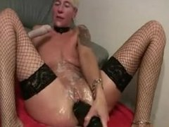 Cory from 1fuckdate.com - Slippery german dildo in ass