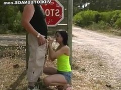 Ashely from 1fuckdate.com - Teens blowjob outdoor