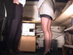 Secretary spanked three times, fingered the third time.