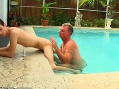 Anal less beauty boy gay Brett Anderson is one lucky daddy, he's met up