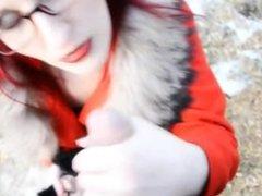 Natashia from 1fuckdate.com - Tremendous redhead with glasses fa