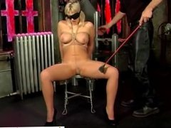 Big tits blonde bound and blindfolded te - Date her on DOM-MATCH.COM
