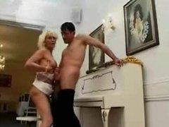 Blond granny hard anal sex
