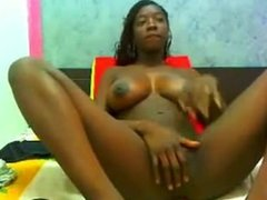 Big tits black babe teasing on cam. Willia from 1fuckdate.com