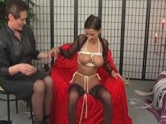 Superb slut enjoys BDSM action