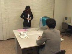 Japanese office girl licks her schlong juice filled arm pit