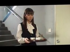 Japanese office girl has her boss drink piss off her hairy cunt