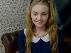 Dominica LIVE on 1fuckdate.com - Cute russian teen webcam