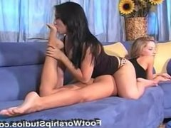 Tia Tanaka Toe Sucking of Sammie Rhodes