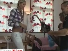 She is on MILF-MEET.COM - Moms teaching teens sucking in foursome