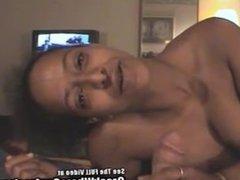 Mozelle from 1fuckdate.com - Mulatto cutie with big tits sucks