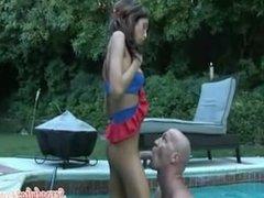 Kimber James swimming pool