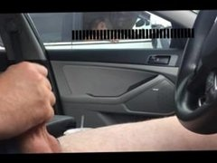 Car flash watches me cum. Janay from 1fuckdate.com