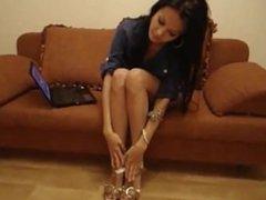 Tatiana's sexy foot tease