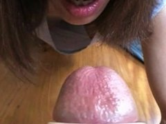Oral cumshot with toy. Annabell from 1fuckdate.com