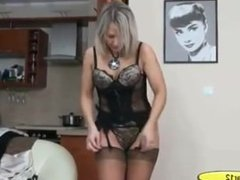 Chandra from 1fuckdate.com - Milf ala in lingerie and high heel