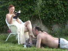Long Toenailed Mistress Uses Slave As Footstool