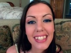 Awesome babe sucks fat cock like a pro