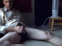 Just stroking my cock in back room, sunlight