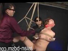 Asian bondage slave is ball gagged - www.asian-bdsm.com