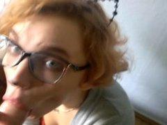 Neko teen deepthroat and facialized