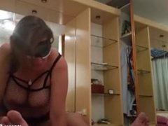 Chubby Mature Slut Rides Cock In Hookup