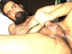 Tasty Balls, Soggy Scrotum, Cum and Juicy Hole Beard Jack OFF 8