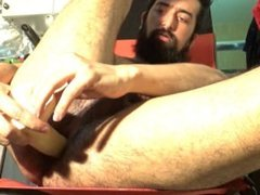 Tasty Balls, Soggy Scrotum, Cum and Juicy Hole Beard Jack OFF 10