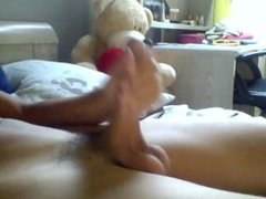 young teenager jerking off before cam