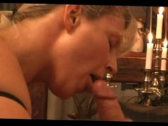 Blonde milf from Sexdatemilf.com takes huge blowjob facial
