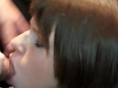 European party teens sucking dicks closeup