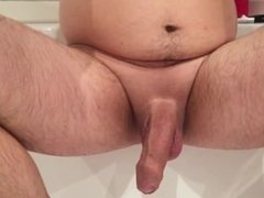 rising penis getting hard then some stroking
