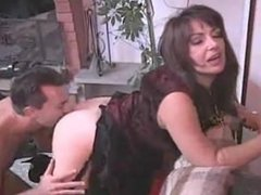 Italian mature brunette feels dick in her ass