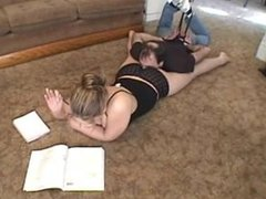 Mistress Mandy Farting directly in a tied up slaves face and nose