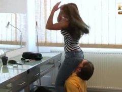 Mistress Katja jeans facesitting