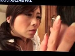 Cheating Japanese MILF wife and young stud