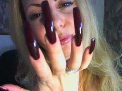 Long nails. Sherri LIVE on 1fuckdate.com