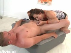 Busty Buffy plays chess for a good fuck