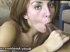 Busty amateur Sarah sucking and riding on cock