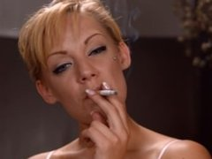 LouLou chain smoking strong cigarettes from www.Smoking-Models.com