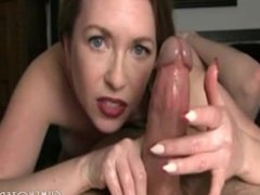 Great MILF Enjoying Jerking Off Big Cock