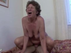 German 71yr old Granny Get Ass-fuck by Grand-Son