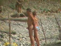 Voyeur on public beach. Margrett from 1fuckdate.com