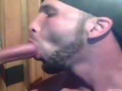 Getting a face full of cum at the Gloryhole
