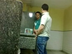 Hung Mexican Studs Playing in Bathroom