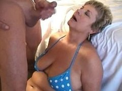 Blowing a load on milfs face. Tory from 1fuckdate.com