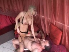 sexy blonde MILF takes cock in her ass