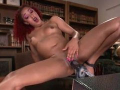 Daisy Ducati squirt on the desk/KINK/FUCKINGMACHINES