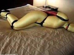 Spandex Catsuit & Hood Bondage